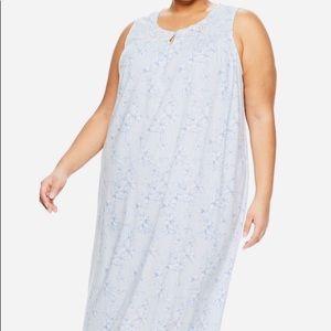 CROFT & BARROW 4X Blue White Nightgown NWT 💙💙